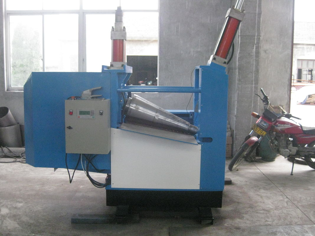 Conical Plate Rolling Machine , Round Steel Plate Bender 2 Roll Plate Bending Machine